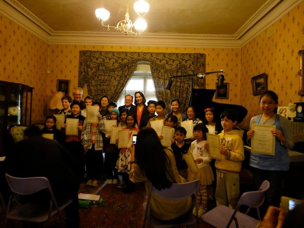 Spring Piano School Junior Program - Students and staff after the final concert and certificate presentation